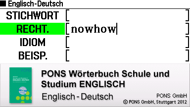 Elektronische Wörterbücher - Glossar | EX-word